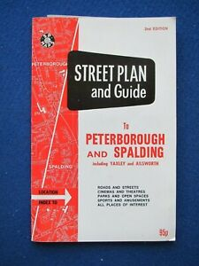SP Street Map & Street Index - Peterborough, Spalding, Yaxley & Ailsworth  c1988