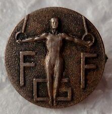 Insigne boutonnière FFCS Sport Gymnastique métal ORIGINAL France small size pin