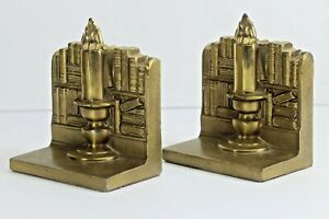 PM Craftsman Library Books Bookends Or Door Stops.