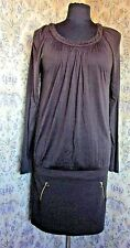 Chocolate brown dress by TED BAKER Size 3 & 12 Soft jersey like Zip trim