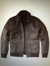 Abercrombie & Fitch Men's Leather Jacket Brown Small BRAND NEW