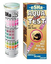 Esha Aqua Quick Test 50 Test Strips NO2 NO3 PH KH GH/TH Aquarium Test Kit