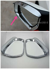 2pcs Chrome Side Mirror Visor Rearview Cover Trim For Mazda 3 Axela 2014-2017