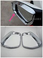 2pcs Chrome Side Mirror Visor Rearview Cover Trim For Hyundai Tucson 2015-2017