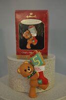 Hallmark - Child's 5th Christmas - Bear with Stockings - Classic Ornament