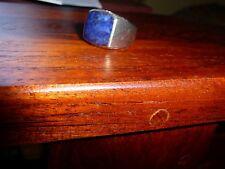 DAVID YURMAN Men's Silver Cushion Signet Ring in Blue Lapis Size 10