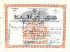 1907 Colorado Telephone Charles M Kassler Denver Signed