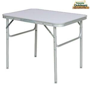 Tavolo Campeggio Picnic Alluminio 60x45x50 Pieghevole Valigetta Piano Formica