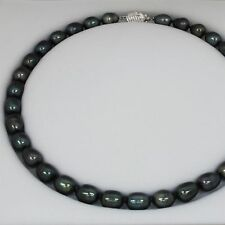 Brand New Real Freshwater Pearl Necklace with 925 Silver Clasp Delny