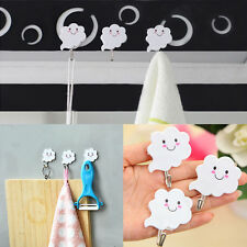 3Pcs Adhesive Sticky Stick On Hooks Bathroom Towel Holders Hangers  Design Chic