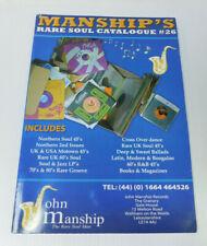 Manship's Rare Soul Catalogue #26 Paperback Northern Motown Jazz