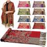 Tassels Design Women Shawls Floral Print Long Scarf Shawl Soft Scarves Wrap Wear