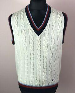Vintage 1980's Bjorn Borg Tennisline JOCKEY Sleeveless Sweater Mens Size XL Vest