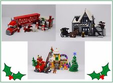 Winter Village Cola Truck, Scrooge's, & Grinch INSTRUCTIONS ONLY for LEGO