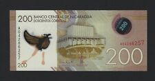 2014 NICARAGUA 200 Cordobas P-214 Stunning Polymer Banknote, Pack Fresh UNC