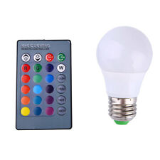 Colorful RGB Smart Dimmable LED Light Bulb Lamp 3W E27 Base with Remote
