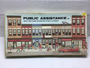 Vintage 1980 Public Assistance Why Bother Working? Board Game Banned