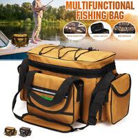 Waterproof Fishing Reel Lure Gear Tackle Bag Storage Shoulder Bag Box Outdoor