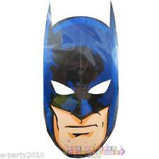 Batman Paper Masks (8) ~ Birthday Party Supplies Favors Comics Bruce Wayne Blue