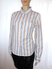 Tommy Hilfiger Womens Vtg Retro Striped Casual Classic Mod Logo Shirt sz 12 AD90