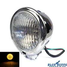 Chrome Bates Style Front Light 4.5 inch Headlight Lamp For Harley Chopper Bobber