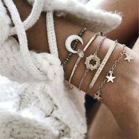 5Pcs/Set Gold Shell Charm Bracelet Set Fashion Multilayer Accessories 2020