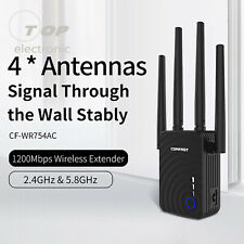 Comfast WiFi Range Extender 1200Mbps Mini WiFi Repeater 2.4Ghz/5.8Ghz Dual Band