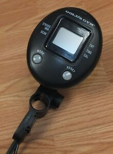 Genuine Gold's Gym Battery Operated 3.5mm Plug In Work Out Tracker **READ**