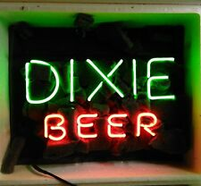 "17""x14"" DIXIE BEER Bar Pub Real Glass Neon Light Sign Collectible Collectible"