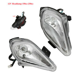 Universal Motorcycle Bike Streetfighter Hi/Lo Headlight 150CC-250CC Headlamp 12V