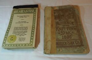 1886 NONOTUCK SILK CO. BOOKLET & THE QUAKER SHIRT CORP. N.Y. SAMPLE BOOK READ!!!