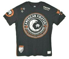American Fighter Mens T shirt Premium Athletics Gray Orange SZ XL