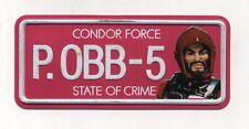Targa metallo BIG JIM Condor Force State of Crime P.OBB-5 Metal Plate Professor
