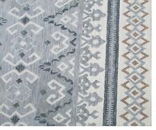 Handmade Modern Gray Beige Wool Area Rug 8' x 10'