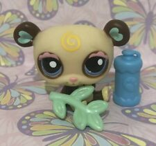 Littlest Pet Shop Panda Bear #1495 LPS Panda 1495 Brown Cream Yellow Swirl