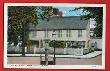 US MASSACHUSETTS - SALEM, OLD WITCH HOUSE VINTAGE PC 742