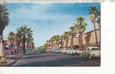 Palm Canyon Drive in Palm Springs Ca Chrome Postcard 2207a