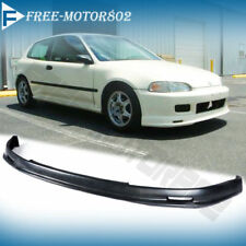 FOR 92-95 HONDA CIVIC EG MUGEN FRONT BUMPER LIP SPOILER WING PU HATCHBACK COUPE