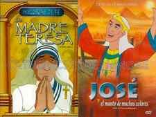 2 PACK Jose Y El Manto De Colores & La Madre Teresa New Dvd