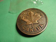 Belt Buckle Round Canada Maple Leaf Canada Century Copper Colored
