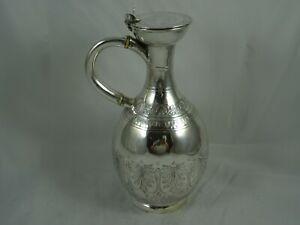 VICTORIAN silver WINE JUG, 1858, 436gm