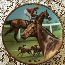 RACEHORSE PLATE RED RUM DANBURY MINT ROYAL WORCESTER PERFECT
