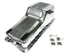 Ford 289 302 Aluminum Oil Pan Front Sump Polished Finned Small Block Windsor SBF