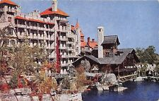 Lake Mohonk New York Mountain House Office Building Stone Section Postcard 1946