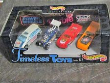 Hot Wheels Timeless Toys Series III 4-vehicles including Barbie's Dodge Van new