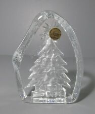"1999 Cristal d'Arques ""Christmas Tree"" Lead Crystal Paperweight / Figure"