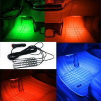 9LED Charger Interior Light Lamp Strip Lights Car SUV Floor Decorative Decor Set