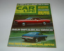 CAR LIFE MAGAZINE JAVELIN WILDCAT RICHIE GINTHER SEPTEMBER 1967