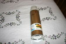 Vintage Unused 1970's Quart Sz Metal Wood Grain Thermos Mint With Label Attached