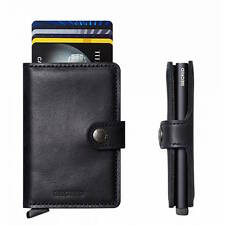 Secrid Solid Aluminium Slimline RFID Card Protector Mini Wallet in Vintage Black